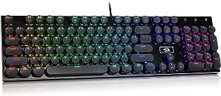 Redragon K556-RK RGB LED Backlit Wired Mechanical Gaming Keyboard, Round Keys, Aluminum..