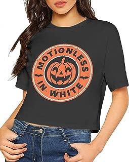 Motionless in White T Shirt Women Crop Top Shirt Short Sleeve Cotton Tee