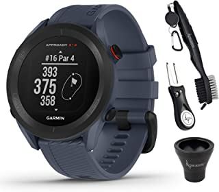 $209 » Garmin Approach S12 Premium GPS Golf Watch, Granite Blue and Wearable4U All-in-One Golf Tools Bundle