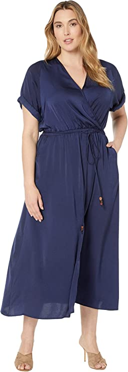 Plus Size Cuffed Sleeve Dress