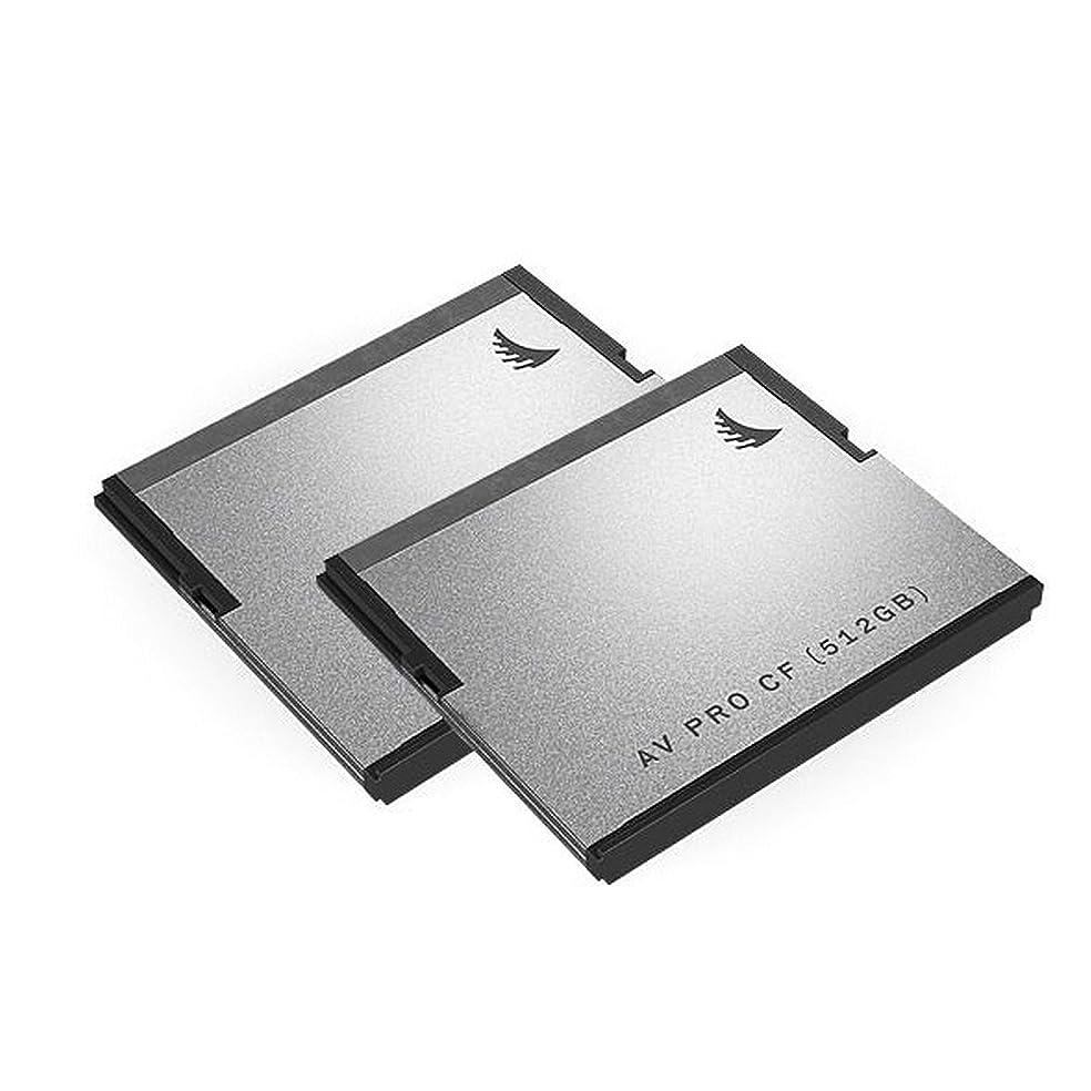 公爵夫人光沢小説Angelbird 512GB AV Pro CF SATA III CFast 2.0 メモリーカード、2個パック