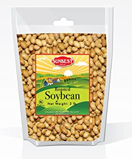 SunBest Whole, Roasted Soybeans Roasted & Salted, Soy Nuts, US Product in Resealable Bag (2 Lb)