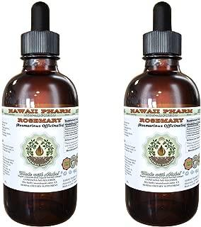 Rosemary Alcohol-FREE Liquid Extract, Organic Rosemary (Rosmarinus officinalis) Dried Leaf Glycerite Natural Herbal Supplement, Hawaii Pharm, USA 2x2 fl.oz