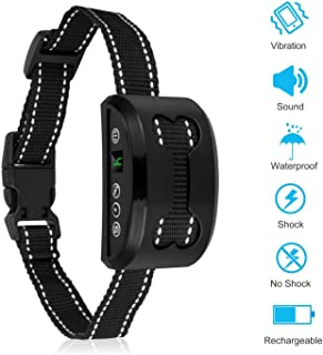 Rapchel Bark Collar, Harmless Bark Collars Small Medium Large Dog Rechargeable Anti Dog Bark Collar 7 Adjustable Sensitivity Intensity Levels