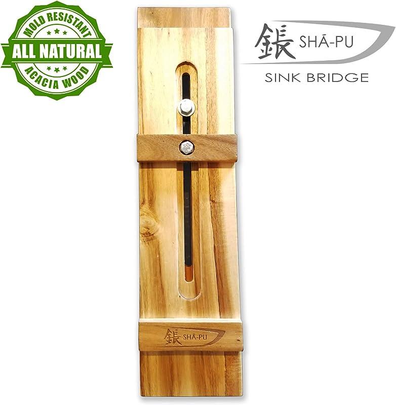 Acacia Wood Whetstone Sharpening Sink Bridge