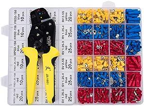 مجموعة أدوات ثني الأطراف السلكية المعزولة من AWG22-14 مع وصلات مجراف 500 قطعة ذكر وأنثى