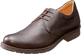 Salerno Almond-Toe Lace-Up Leather Derby Shoes for Men