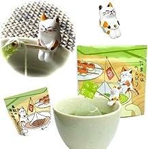 にゃんこティーバッグ みたらしちゃん付 緑茶ティーバッグ 2袋 ティーバッグ 煎茶・かりがねほうじ茶 3g×10個入×2袋 ねこ茶