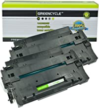 GREENCYCLE High-Yield 55A CE255A Toner Cartridge Replacement Compatible for HP Laserjet P3010 P3011 P3015 P3015d P3015x P3016 M521dn M525dn M525f M525c, Page Yield Up to 10000 Pages (Black, 2 Pack)