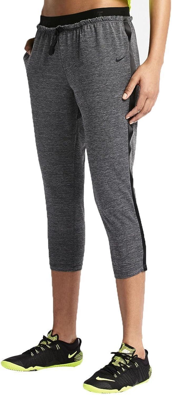 Nike Women's Cool Touch Dance Crops, Black Heather Black, Medium