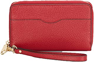 Rebecca Minkoff MAB iPhone X/8/7 Leather Wristlet Wallet, Deep Red