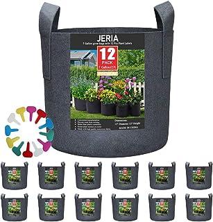 Large Grow Bag Felt Planter w Handles Liner Flowers Vegetable Plant 50 x 30x20cm