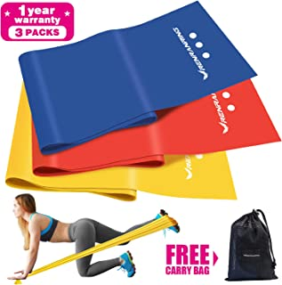Exercise Resistance Bands Set,Workout Bands with Door Anchor,Exercise Bands of 3 Different Strengths,Latex Free Elastic Stretch Bands for Physical Therapy,Yoga,Pilates,Stretching,Home Workout