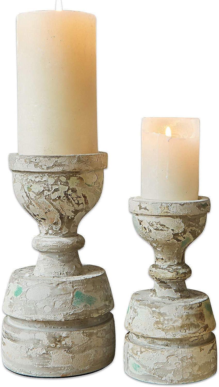 Loberon Kerzenständer 2er Set Bettony, Bettony, Bettony, Mangoholz Aluminium, H Ø ca. 26 14 cm, grau B07KWHH4MN dc781d