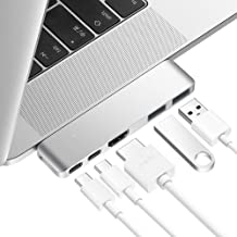Purgo USB C Hub Adapter Dongle for MacBook Air 2018/2019, MacBook Pro 2019/2018-2016, Ultra Slim Type C Hub with 4K HDMI, 100W Power Delivery, 40Gbps Thunderbolt 3 5K@60Hz and 2xUSB 3.0 (Silver)