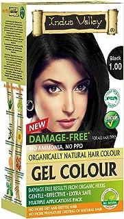 Indus Valley Damage Free Permanent Gel Hair Color (Black 1.0)