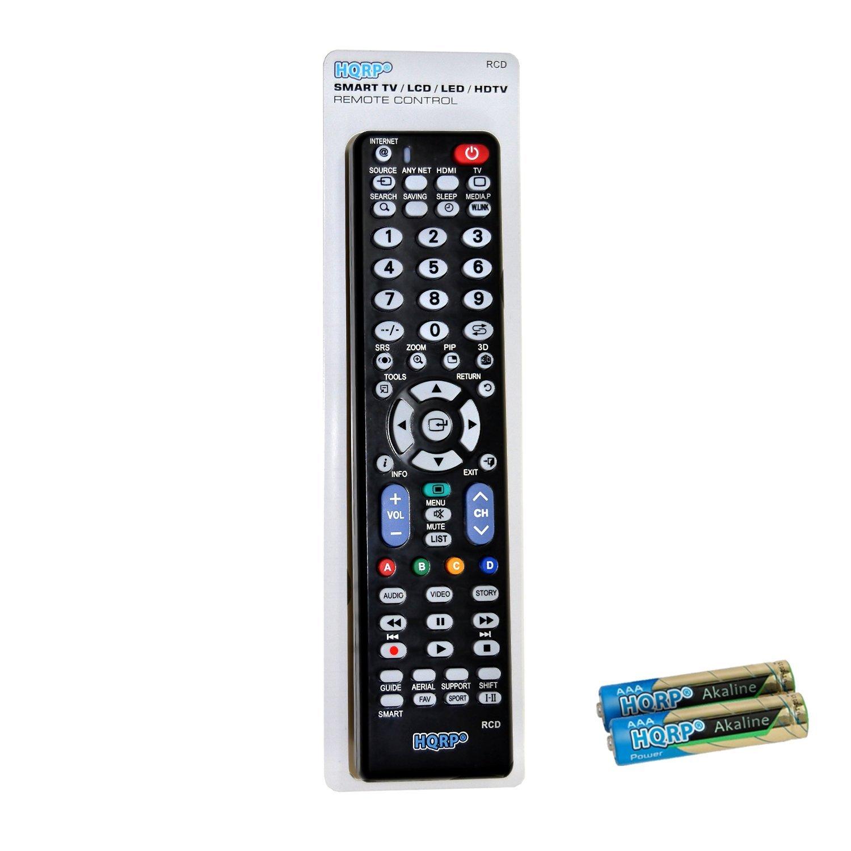 HQRP Mando a distancia universal para televisores LED de Samsung H5000; UE22H5000AW, UE32H5000AW, UE40H5000AW 22