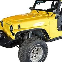 Hooke Road Offroad Flat Front & Rear Fender Flares Wheel Armor Kit for 1997-2006 Jeep Wrangler TJ (4PCS)