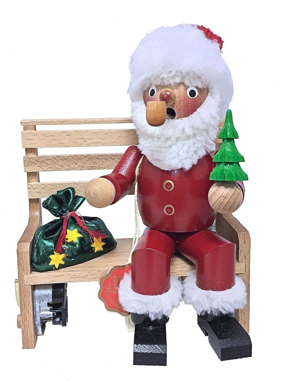 啓発するにじみ出るレギュラーSteinbach署名Santa onベンチMusical GermanクリスマスIncense Smoker新しい