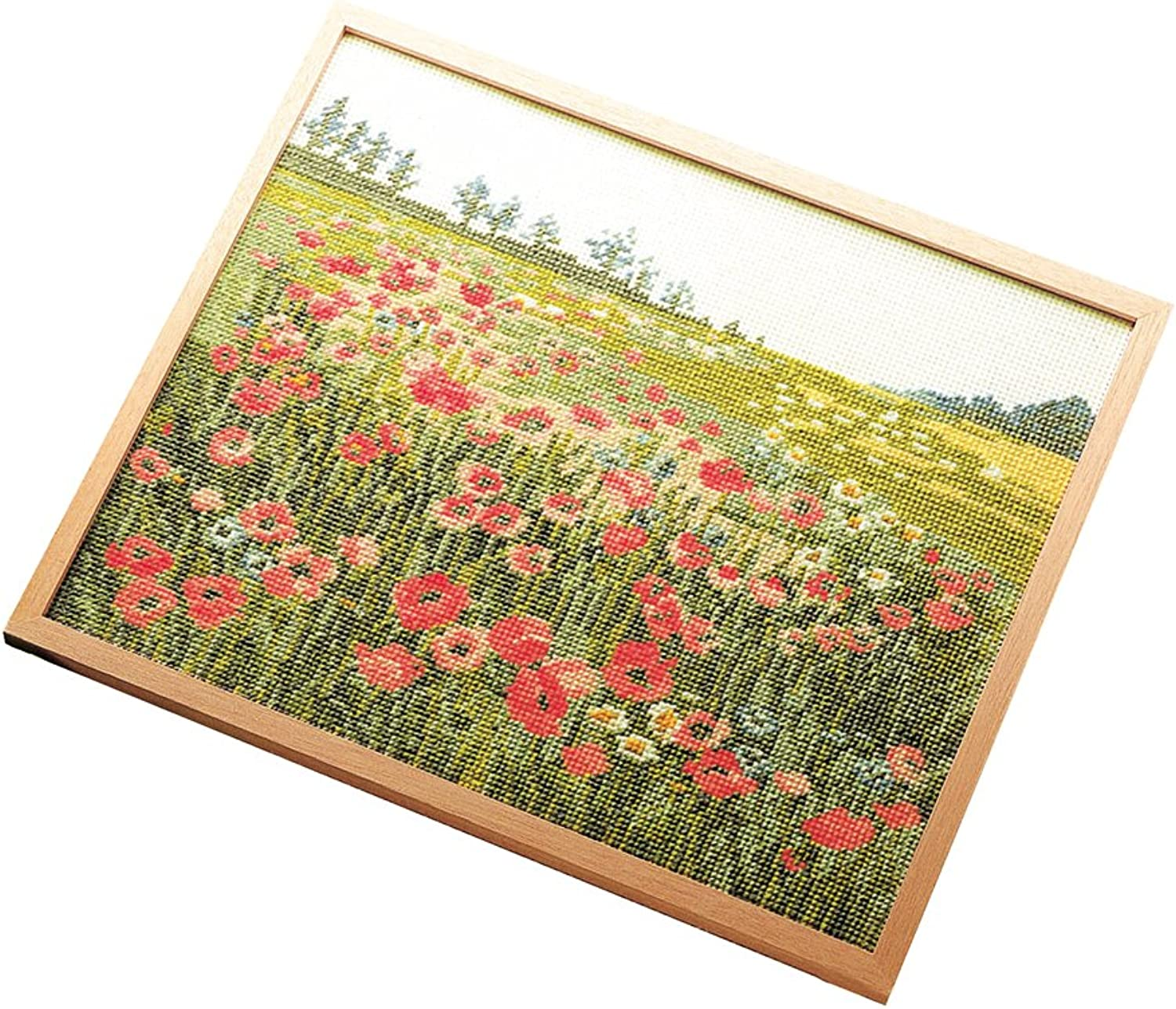 Offwhite time the bloom of Orimupasu cross stitch embroidery kit Shikisai of poetry poppy 7111
