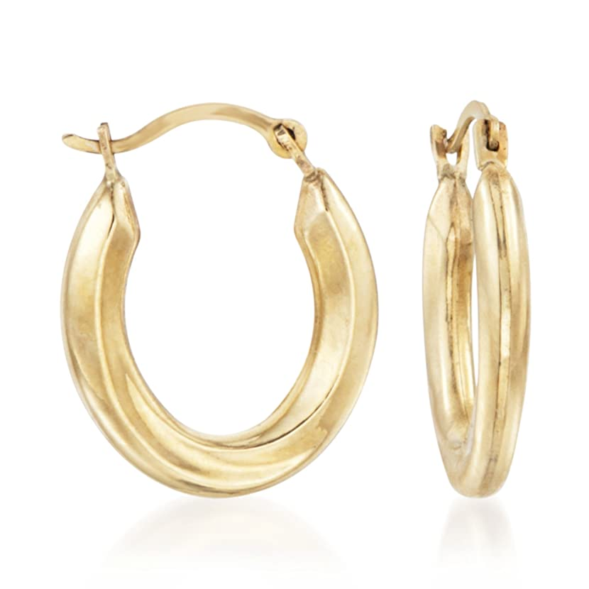 Ross-Simons 14kt Yellow Gold Small Oval Hoop Earrings xpxqyojz60611328