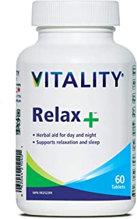 Vitality Relax+ | Natural Remedy for Stress and Anxiety | Sleep Aid | Valerian Root | Passionflower | 100% Plant Based | 60 Tablets