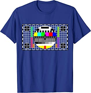 Funny TV Test Pattern in color Sheldon Nerdy T-shirt