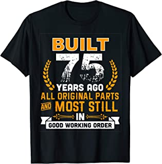 Funny 75th Birthday Shirts 75 Years Old Gifts