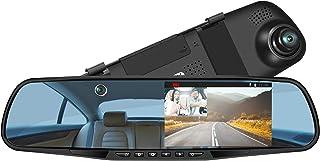 LUU ミラー型車内外同時録画 ドライブレコーダー 微光暗視 1080PフルHD撮影 300万画素高画質 5インチ画面 150°視野角 ノイズ対策済 Gセンサー WDR・HDR対応 エンジン連動 駐車監視 ループ録画