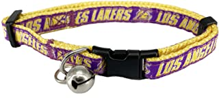 NBA LA LAKERS CAT COLLAR Adjustable Break-away COLLAR for CATS with Licensed Team Name & Logo. Cute & Fashionable Basketba...