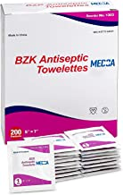 Antiseptic Wipes – (Pack of 200) Antibacterial Hand Sanitizer Wipes and Benzalkonium Chloride Swabs Individual BZK Single-Use Packets Clinically Proven, Kills Bacteria and Germs by MEDca