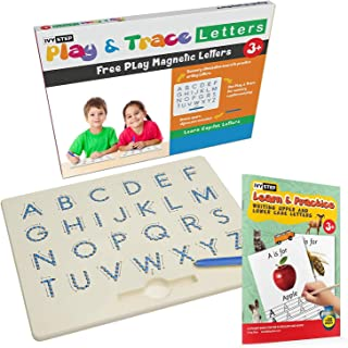 Ivy Step Magnetic Alphabet Letter Tracing Board with Learn to Write for Kids Booklet and Stylus Pen