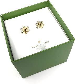 Kate Spade Glitter Bourgeois Bow Gold Tone Earrings Gift Set