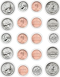 Carson Dellosa Money, U.S. Coins Shape Stickers (5261)