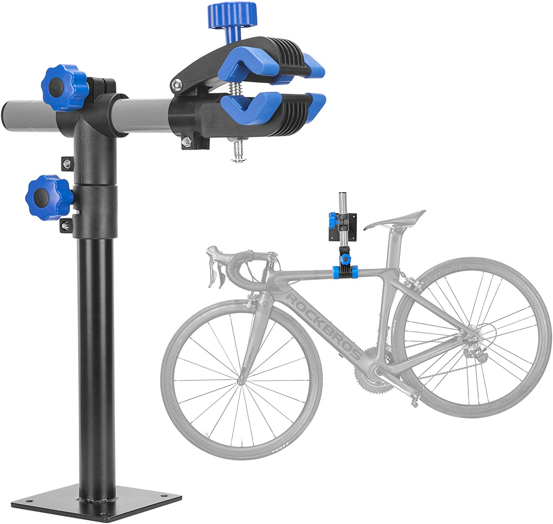 ROCKBROS Bike Repair Stand Wall Workbench Mount Rack Workstand Bike Clamp Height Adjustable Home Bicycle Maintenance Rack Bike Repair Rack for Road Mountain Bikes : Sports & Outdoors