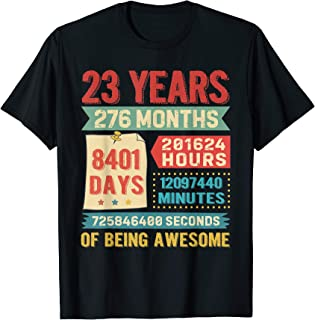 Funny 23 Years Old 276 Months Shirt 23rd Birthday Gift Ideas