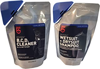 (2-Pack) Wetsuit Drysuit Shampoo and BC Life BCD Cleaner Conditioner