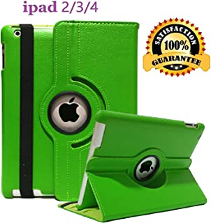 iPad 2/3/4 Case - 360 Degree Rotating Stand Smart Case Protective Cover with Auto Wake Up/Sleep Feature for Apple iPad 4, iPad 3 & iPad 2 (Green)