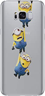 Galaxy S8 Plus Minions Silicone Phone Case/Gel Cover for Samsung Galaxy S 8 Plus (S8 Plus/G955) / Screen Protector & Cloth/iCHOOSE / Hang Tight