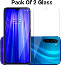 POPIO Tempered Glass Screen Protector For Xiaomi Redmi Note 8 (Transparent) Full Screen Coverage (except edges) with Easy Installation Kit, Pack Of 2