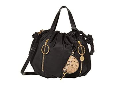 See by Chloe Flo Shoulder Bag (Black 1) Handbags