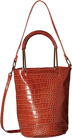 Croc Metal Handle Convertible Tote