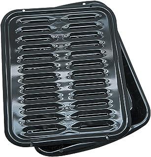Range Kleen Broiler Pans for Ovens – BP102X 2 Pc Black Porcelain Coated Steel Oven..