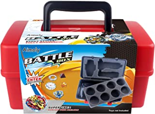 Aimoly Battle Tops Case, Storage Carrying Box for Beyblade Burst Battling Games (Red)