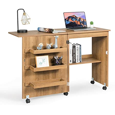 Sewing Machine Table Cabinet Organizer Home Portable Storage Shelf Folding Desk