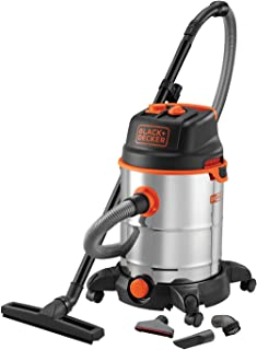 Black and Decker 51689- Vacuum (1600W, with 30L deposit, power plug, automatic On/Off function)