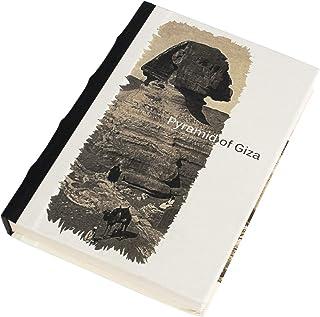 Handmade Planner Diary,Pyramid of Giza,Eco-Friendly,Acid-FreeHandmade Paper,Flat Open,Hard Bound,Address Book,Genui...