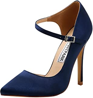 Pointed Toe Heels for Women Ankle Strap Wedding Bridal...