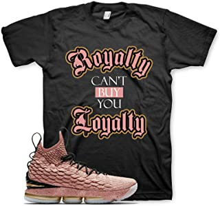 Black ROYALTY T Shirt for Nike Lebron 15 Hollywood All Star Rust Pink Gold