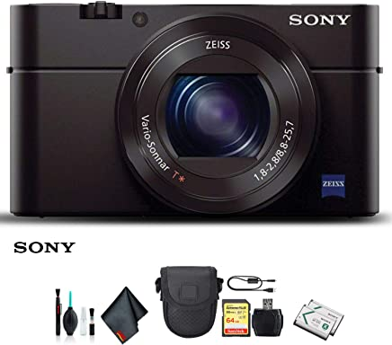 $542 Get Sony Cyber-Shot DSC-RX100 III Camera DSCRX100M3/B with Soft Bag, Additional Battery, 64GB Memory Card, Card Reader, Plus Essential Accessories
